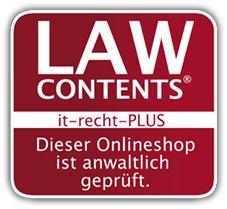 Rechtsschutz-Zertifikat anwaltlich gepr�fter Onlineshop