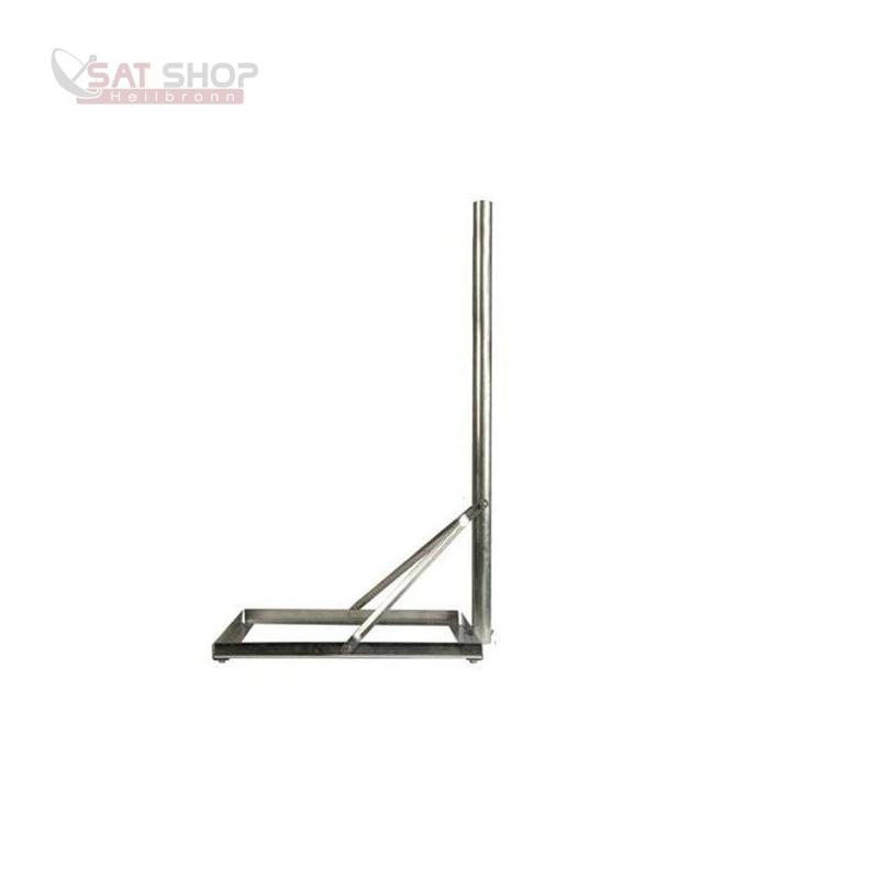 Balkonständer für Gehwegplatte 50x50cm (1m Länge/ verzinkter Stahl)
