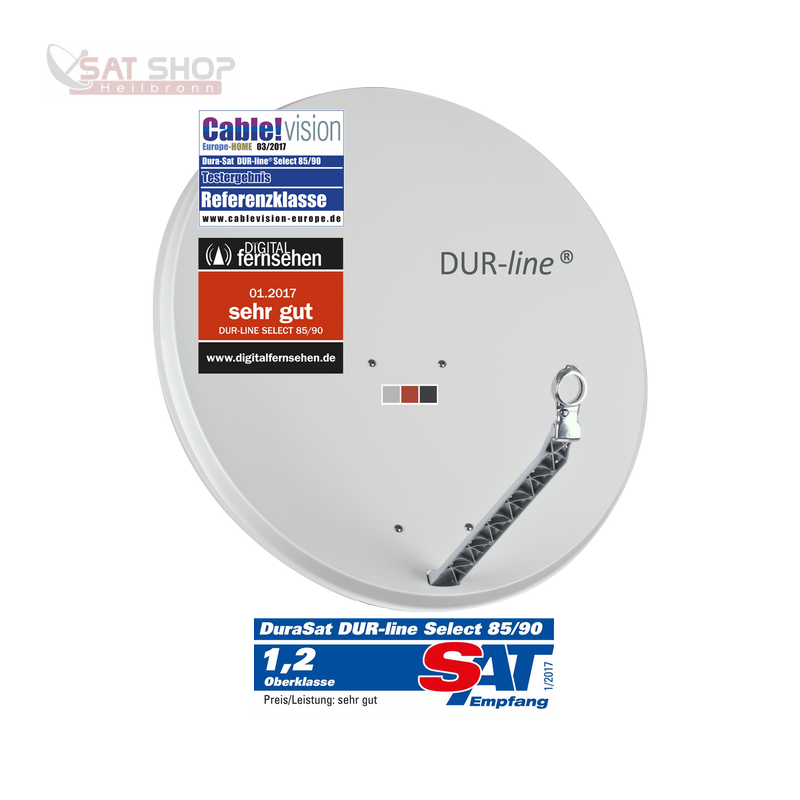 Dur-Line 85/90 Select Vollaluminium-Spiegel (3 verschiedene Farben ...