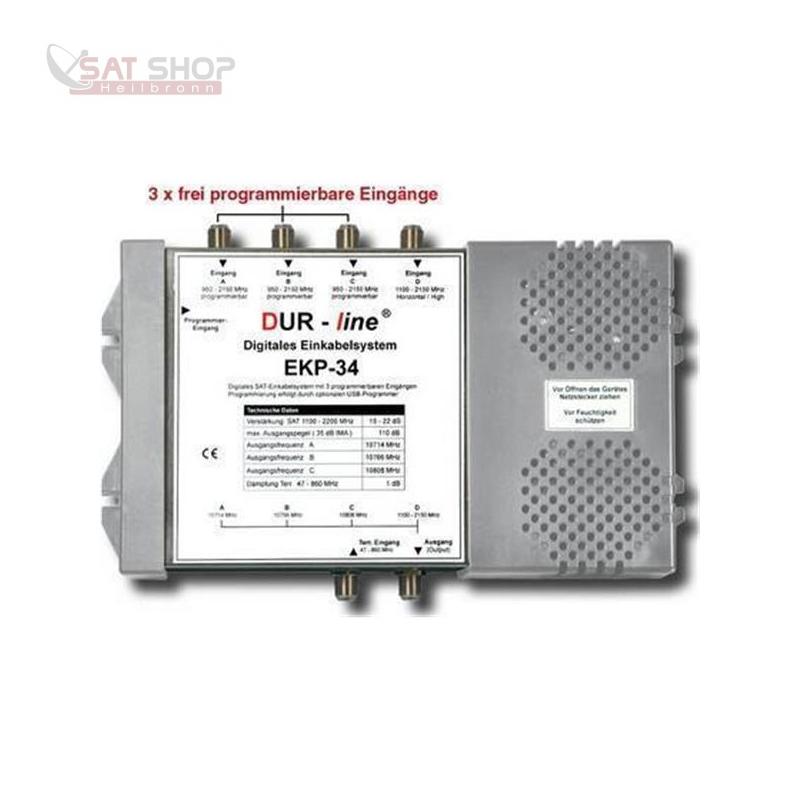 EKP 34 digitales SAT- Einkabelsystem (3 extra Transponder programmierbar)