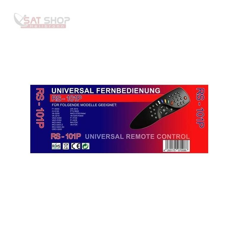 Fernbedienung HUMAX 5xxx Reihe (5000/5100/5300/5350/5400/5500/5600/5700), VA-3210, CR-3510, F1-Fox, F1-Ace und NA-Fox