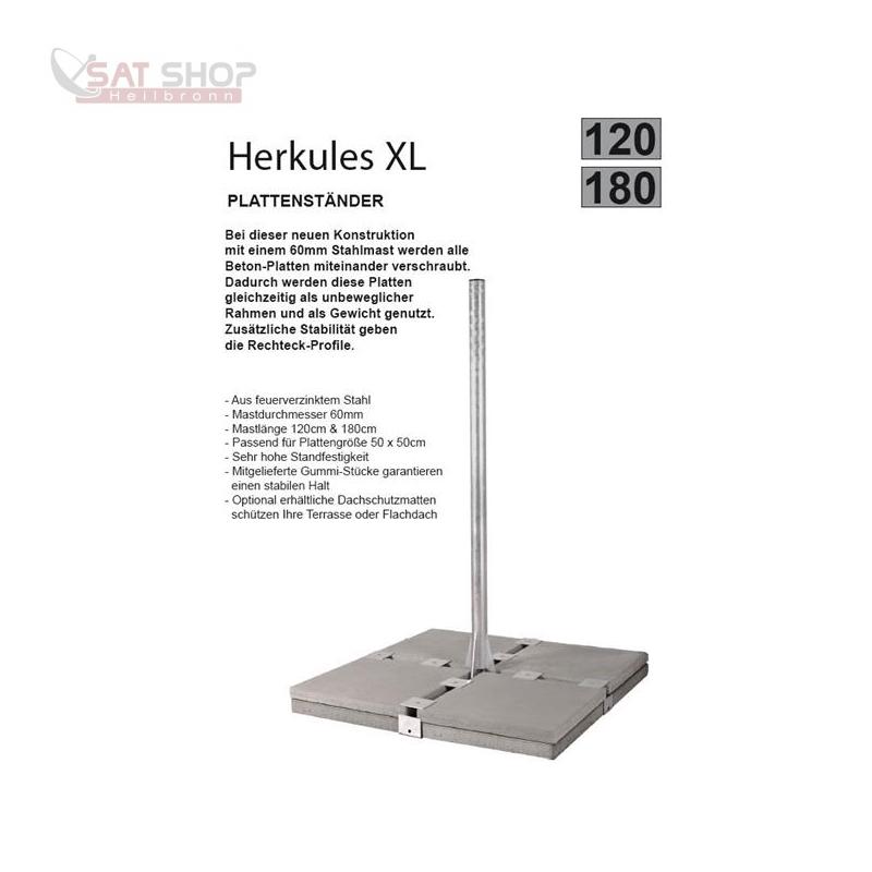 Herkules Balkonständer/Plattenständer XL für 8 Gehwegplatte (1.2 Meter Mastlänge)