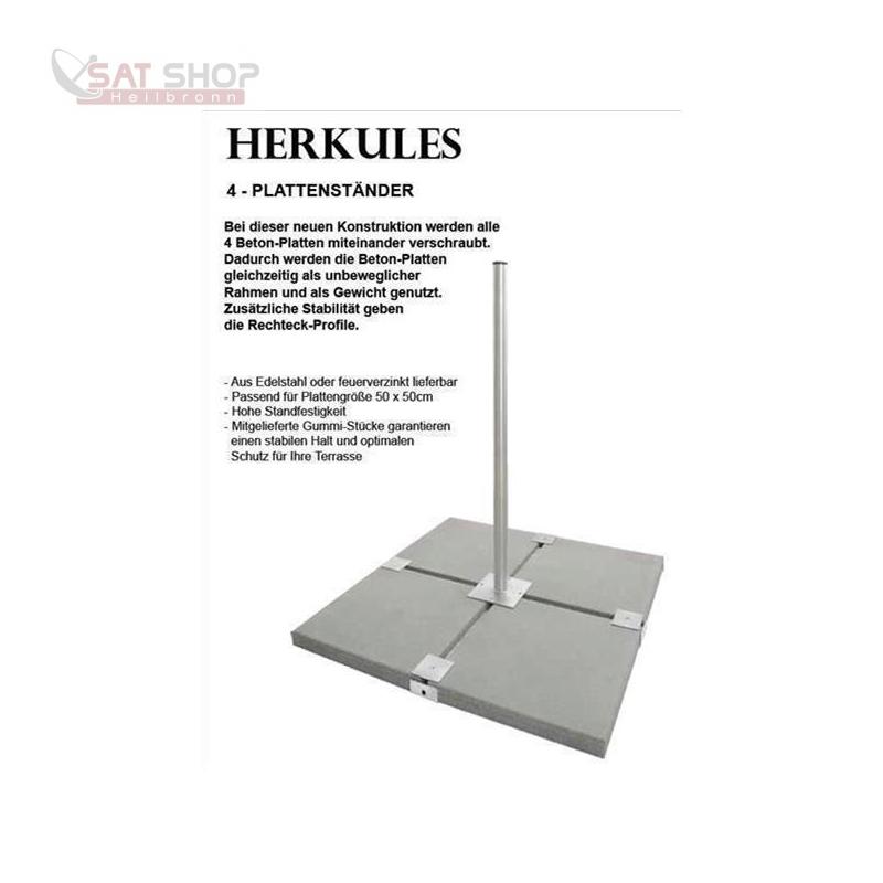 Herkules Edelstahl Balkonständer/ Plattenständer für 4 Gehwegplatte (90cm Länge)