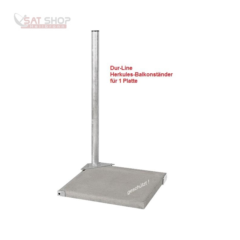Herkules Balkonständer/ Plattenständer für 2 Gehwegplatten (90cm Länge / feuerverzinkt)