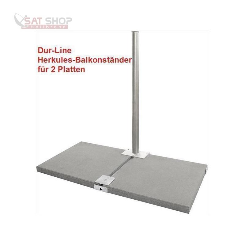 Herkules Balkonständer/ Plattenständer für 4 Gehwegplatten (90cm Länge / feuerverzinkt)