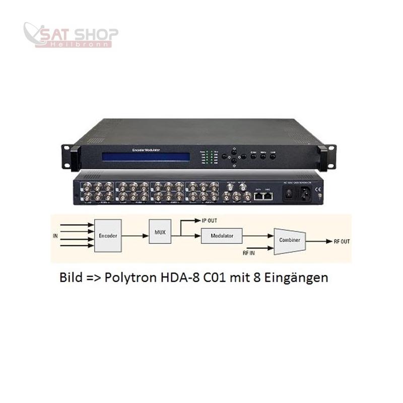 HDA-4 T02 AV-Modulator DVB-T/ASI/IP-Stream (4x AV auf DVB-T)