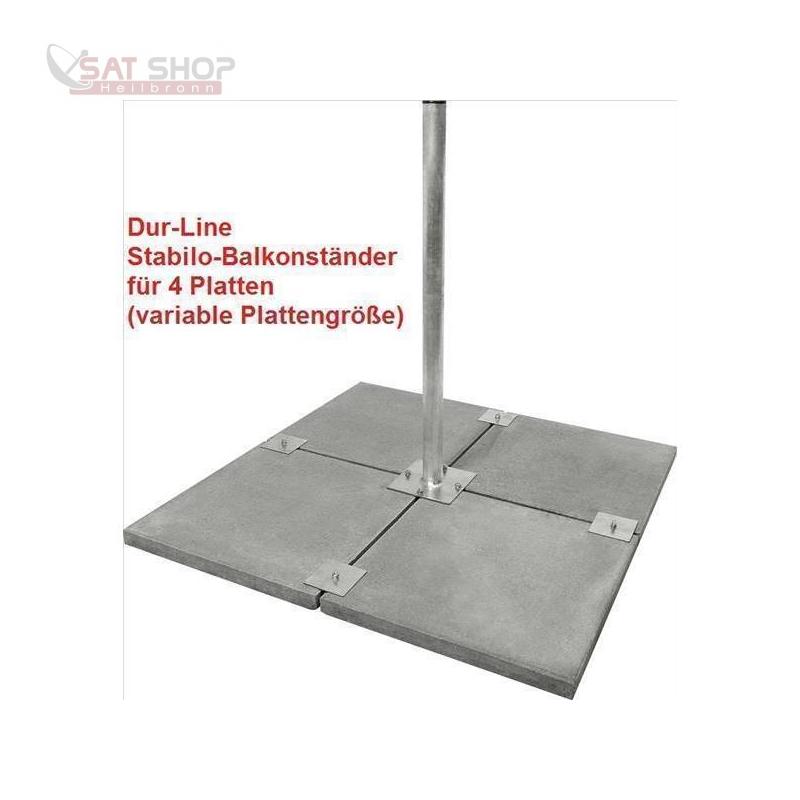 Stabilo Universal Balkonständer/Plattenständer für 4 Gehwegplatten (Edelstahl / 90cm Länge)