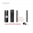 Fernbedienung GigaBlue HD 800 Solo/SE/UE + HD Quad/Quad Plus + Ultra UE (RCU Version/ lernbar/incl. Ladekabel)