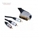 Scart - 3x CINCH YUV Verbindungskabel 5m HIGH QUALITY