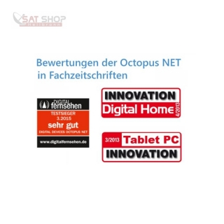 Digital Devices Octopus NET Rack - DVB>IP Netzwerktuner (DVB-C/C2 - DVB-T/T2 - DVB-S/S2)