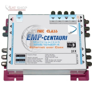 EMP Centauri Ethernet-over-Coax Multischalter 5/10 NEP-4+PA12.2A (1Gbit)
