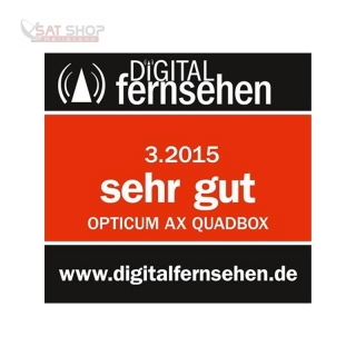 Opticum AX Quadbox HD 2400 3x DVB-C/T2 Tuner 500GB 2.5 Festplatte