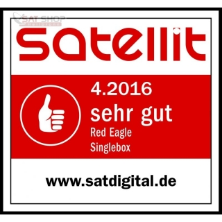 Red Eagle SingleBox LCD Full HD Linux E2 Receiver (1x CI / 1x Kartenleser)