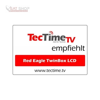 Red Eagle TwinBox LCD Full HD Linux E2 Receiver (1x DVB-S2 Tuner fest/ 1x Tuner modular)