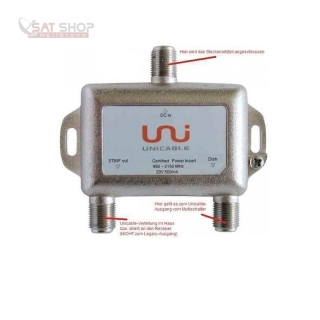 Unicable Multischalter INVERTO Black IDLP-UST101-CUO10-4PP (4 Unicable-Umsetzungen/SatCR + 1x Legacy-Ausgang)