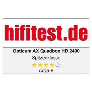 AX Quadbox HD 2400 E2 Linux Receiver mit Wechseltuner DVB-S2 / DVB-C / DVB-T/T2 (powered by Opticum)