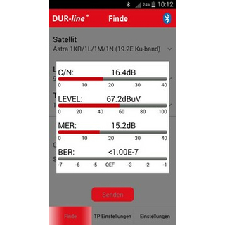Dur-Line SF 4000 Bluetooth Satfinder digital (Handy-/Tablet-BT Anbindung)