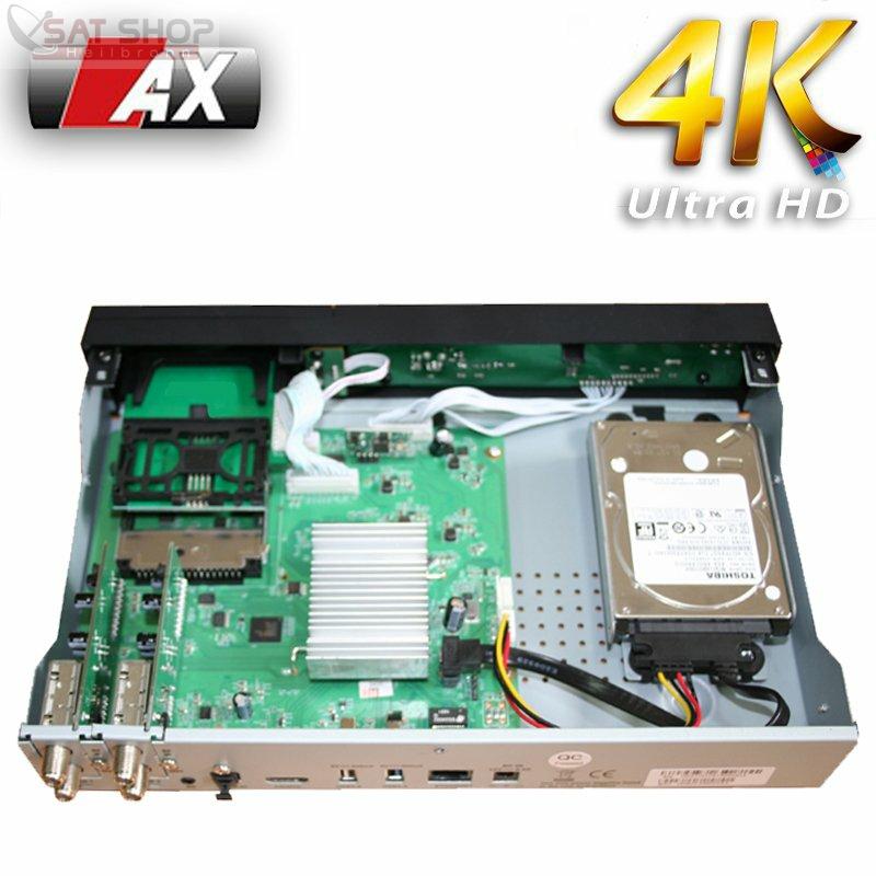 Ax 4k-Box Hd51 Flashen