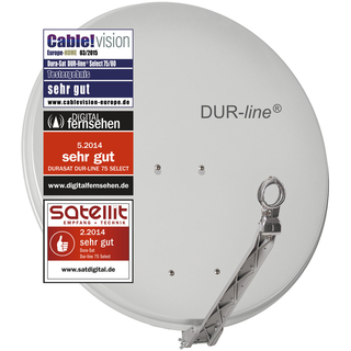 Satanlage für 1 Teilnehmer (Dur-Line 75/80 Select Antenne + Inverto Black Premium Single LNB)