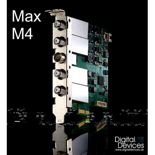 Digital Devices Max M4 TV PC-Karte, 4x Multi-Band Tuner DVB-S2/C/T2, HDTV mit Unicable-/JESS-Unterstützung