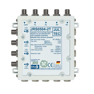 Jultec JRS0504-2A/T - Receiver Powered Stacker (Unicable Multischalter)